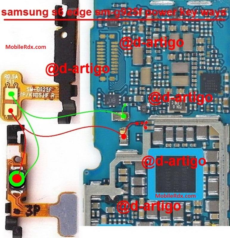 Samsung SM-G925F Power On Off Button Jumper Solution Ways