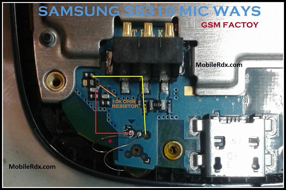Samsung GT S5310 Mic Ways Problem Jumper Solution - Samsung GT-S5310 Mic Ways Problem Jumper Solution
