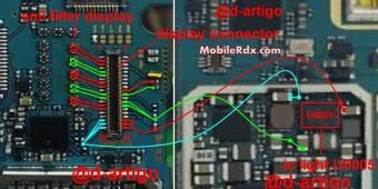 Samsung Galaxy A5 A500H Display Ways Light Jumper Solution