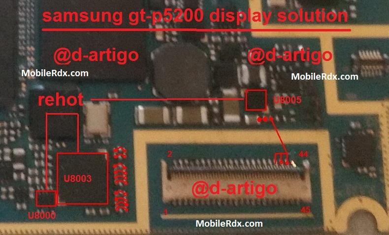Samsung Galaxy Tab 3 P5200 Display Light Ways Solution