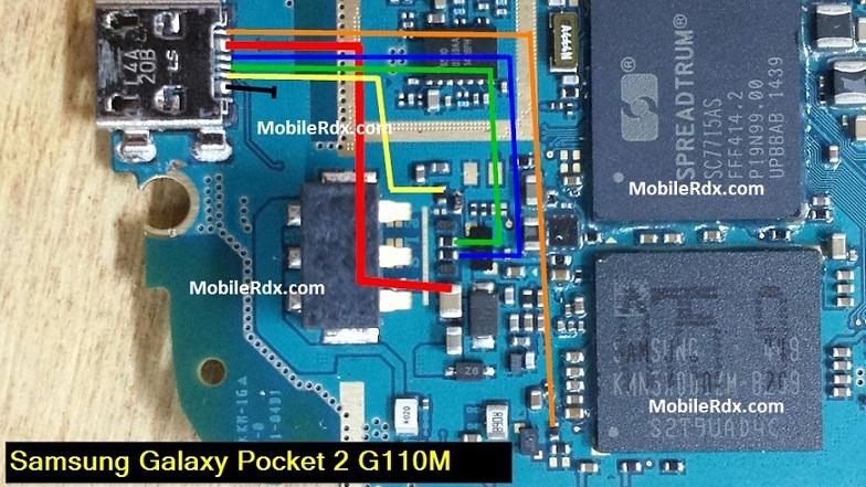 Samsung SM G110M Charging Ways Usb Jumper Solution