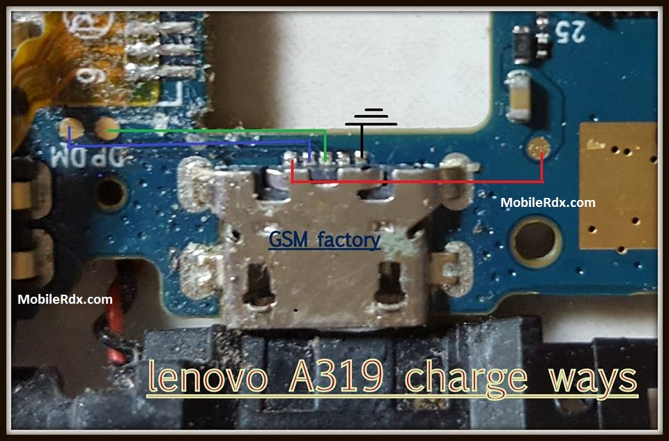 Lenovo A319 Charging Ways Problem Jumper Solution - Lenovo A319 Charging Ways Problem Jumper Solution