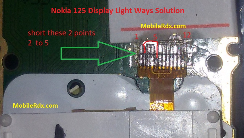 Nokia 125 Display Light Ways Problem Jumper Solution