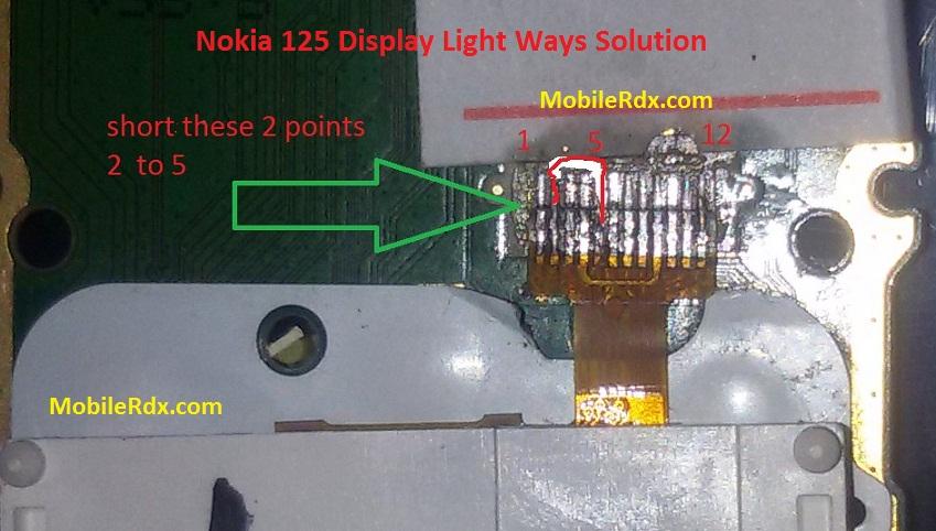 Nokia 125 Display Light Ways Problem Jumper Solution - Nokia 125 Display Light Ways Problem Jumper Solution