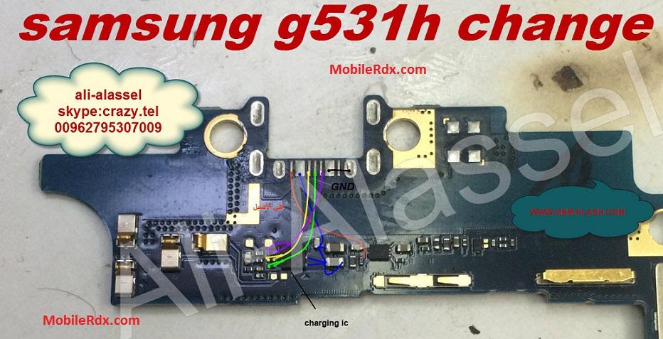 Samsung G531H Charging Solution Usb Jumper Ways