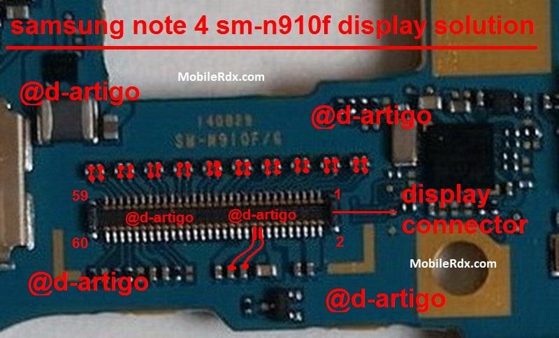 Samsung Galaxy Note 4 N910F Display Problem Solution