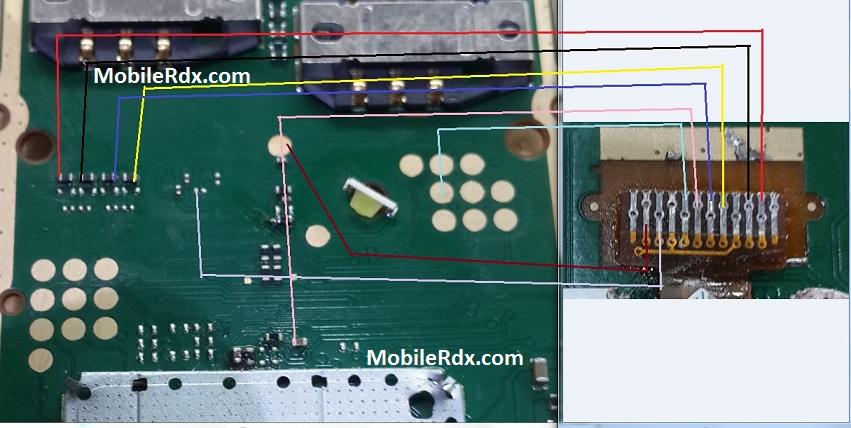 Nokia 105 RM 1133 Display Ways Light Jumper Solution 2