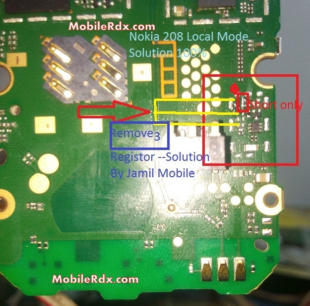 Nokia 208 Local Mode Test Mode Problem Solution