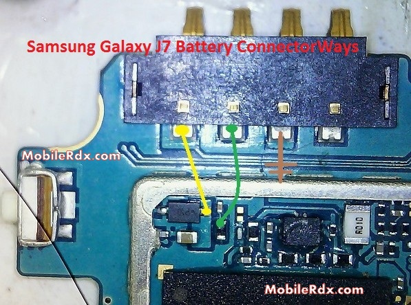 Samsung Galaxy J7 Battery Connector Point Ways - Samsung Galaxy J7 Battery Connector Point Ways