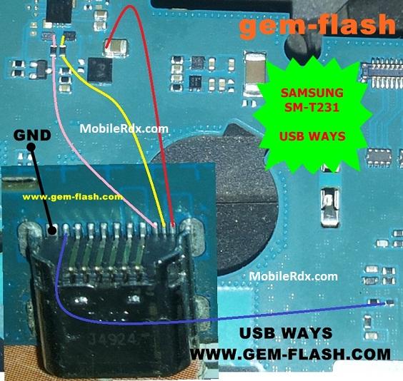 Samsung Galaxy Tab 4 T231 Charging Ways Usb Jumper