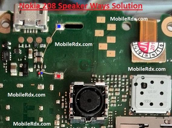 Nokia 208 Speaker Ways Solution Ringer Jumper