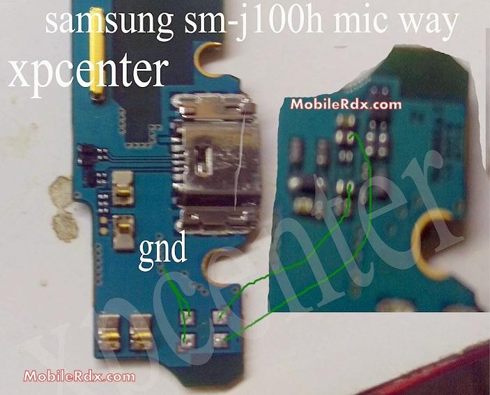 Samsung Galaxy J1 J100 Mic Ways Solution Repair Jumper