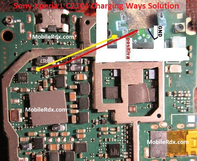 Sony Xperia L C2104 Charging Ways Solution Usb Jumper