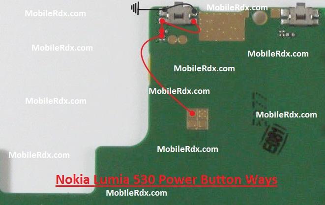 Nokia Lumia 530 Power On Off Button Ways Switch Jumper - Nokia Lumia 530 Power Button Ways On-Off Key Jumper