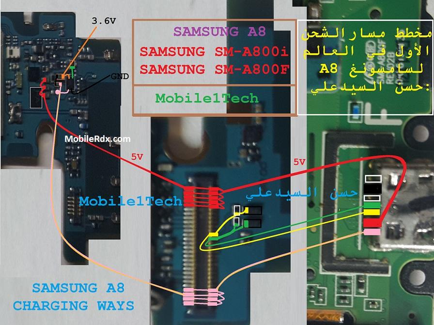 Samsung A8 SM-A800 Usb Charging Ways Problem Solution