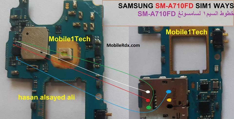 Samsung Galaxy A7 SM-A710 No Sim Card Problem Repair Ways