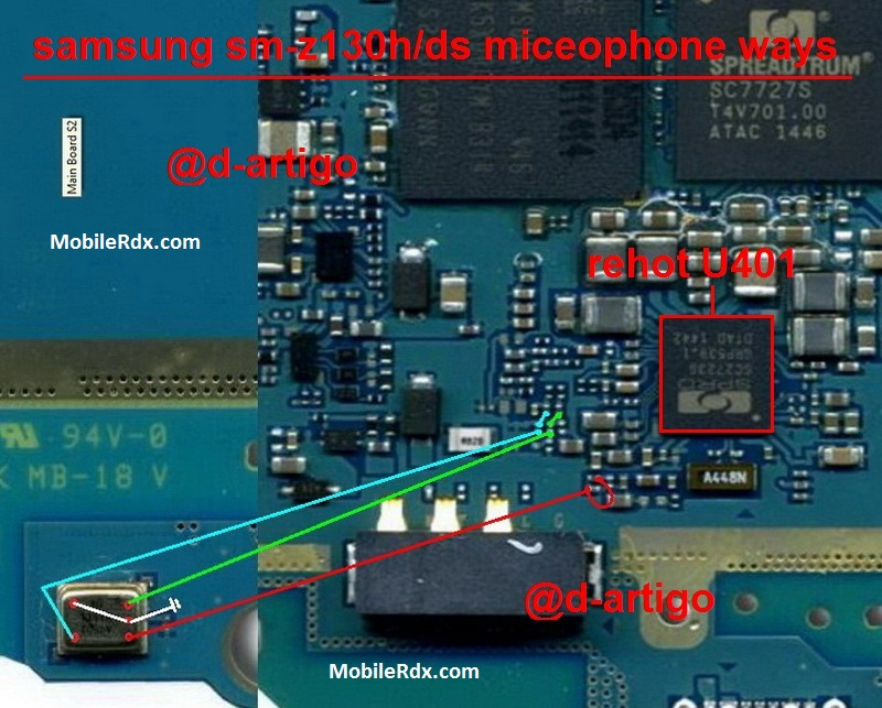 Samsung Z1 SM Z130H Mic Ways Microphone Jumper Solution
