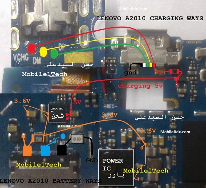 Lenovo A2010 Usb Ways Charging Jumper Solution - Lenovo A2010 Usb Ways Charging Jumper Solution