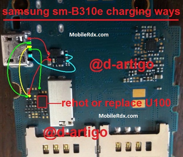 Samsung B310E Charging Ways Solution Usb Jumper