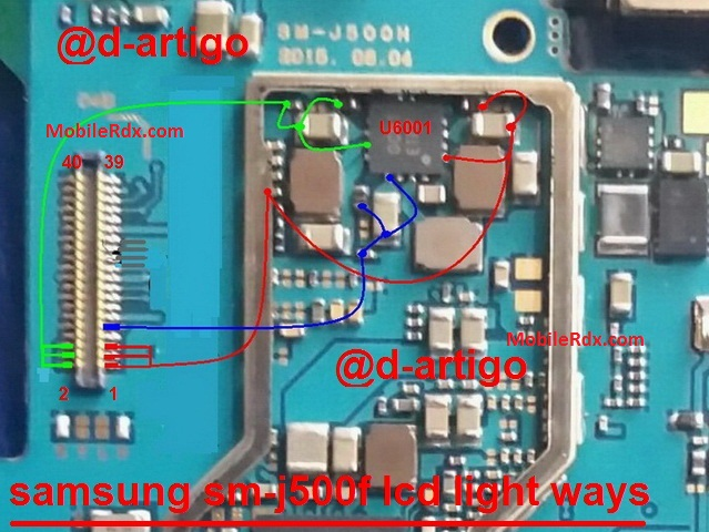 Samsung Galaxy J500F Display Backlight Problem Solution