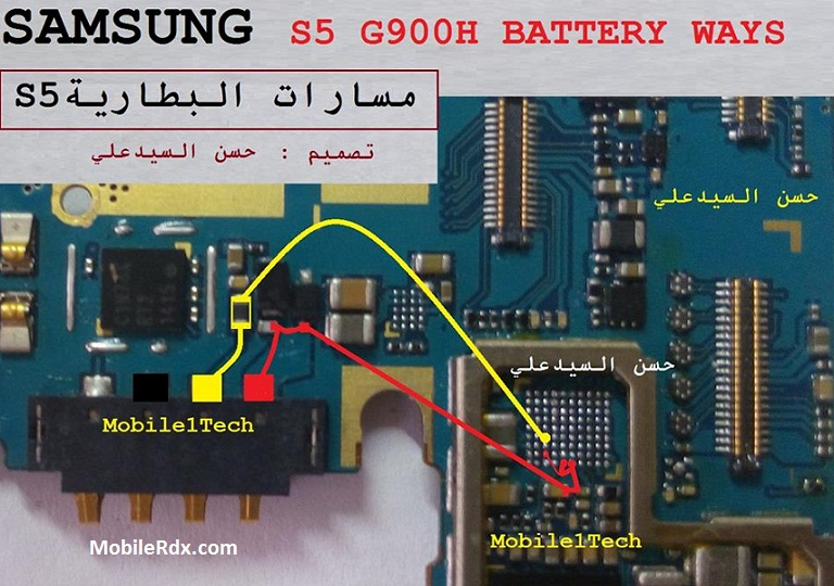 Samsung Galaxy S5 G900H Battery Connector Jumper Ways