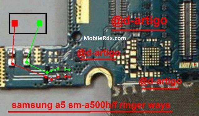 Samsung SM A500H Ringer Ic Problem Ways Speaker Jumper