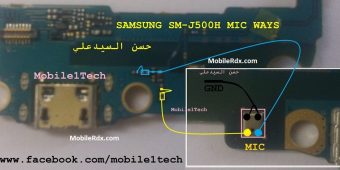 Samsung SM-J500H Microphone Jumper Mic Ways Solution