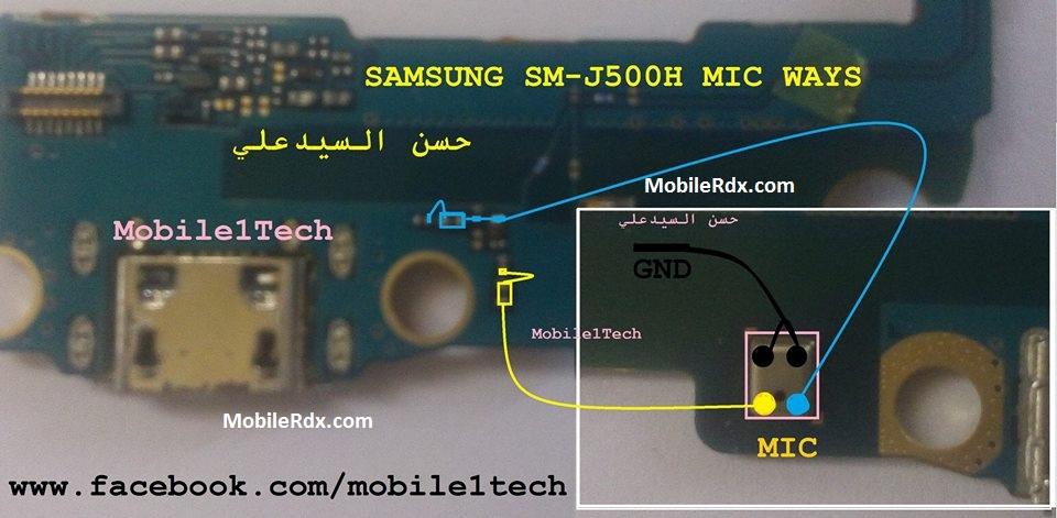 Samsung SM J500H Microphone Jumper Mic Ways Solution - Samsung SM-J500H Microphone Jumper Mic Ways Solution