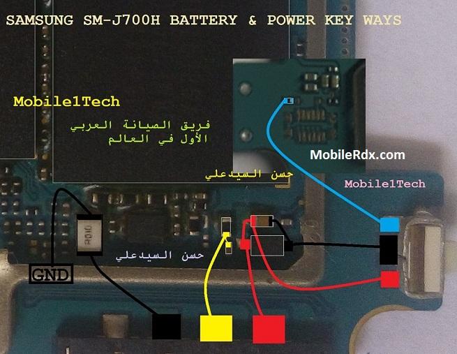 Samsung SM J700H Power Key Ways On Off Button Jumper