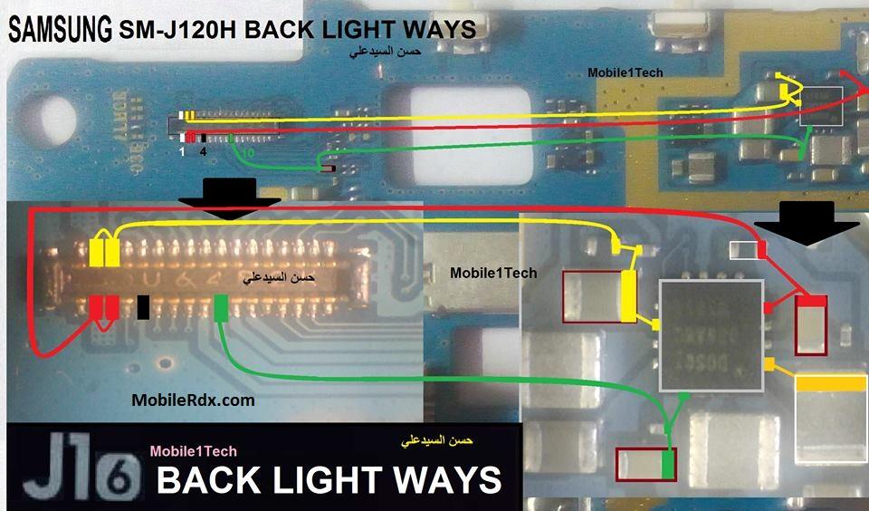 Samsung SM J120H Display Light Ways Lcd Jumper Solution - Samsung SM-J120H Display Light Ways Lcd Jumper Solution