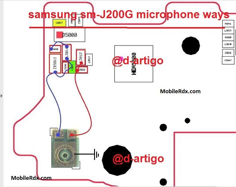 Samsung SM J200G Microphone Ways Mic Problem Jumper Solution