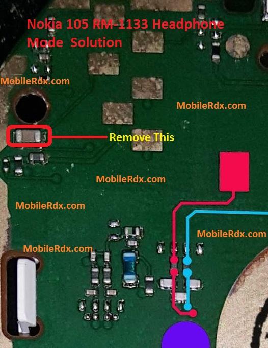 Nokia 105 RM 1133 Headphone Mode Problem Handsfree Solution