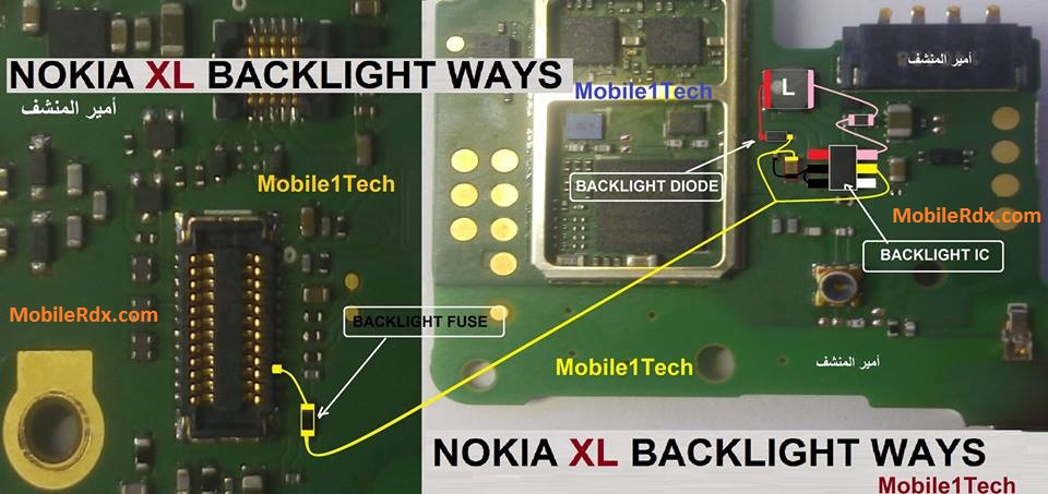 Nokia XL Display Light Ways Backlight Jumper Solution