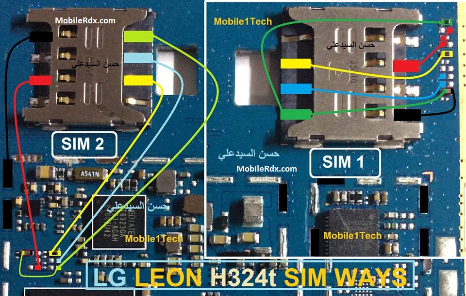 Repair LG Leon H324t Sim Card Ways Problem Sim Jumper Solution