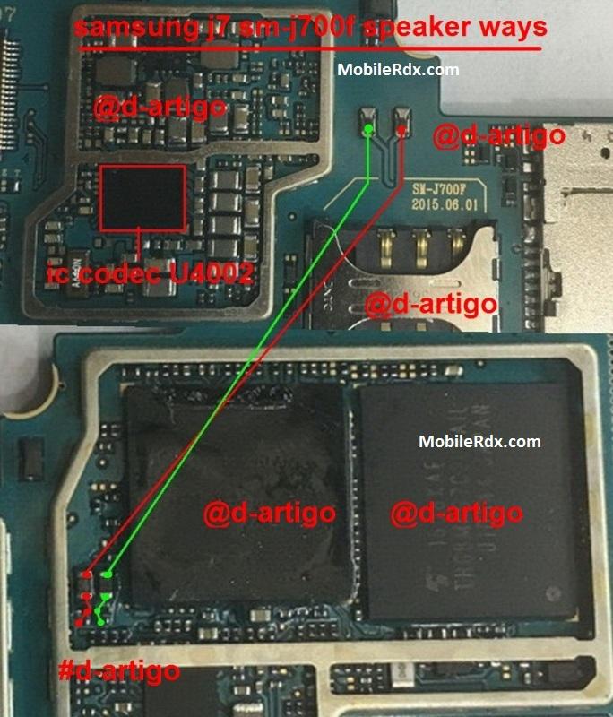 Samsung Galaxy J7 J700F Speaker Ways Ringer Not Working Problem