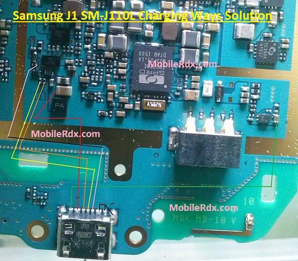 Samsung J1 SM J110L Charging Jumper Usb Ways Solution