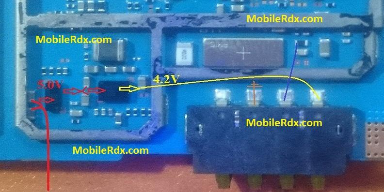 Samsung SM G531H Battery Connector Ways Solution Jumper 1