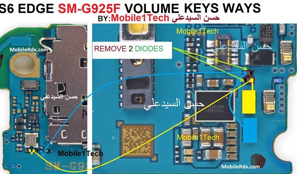Samsung SM G925F Volume Button Ways Up Down Key Jumper
