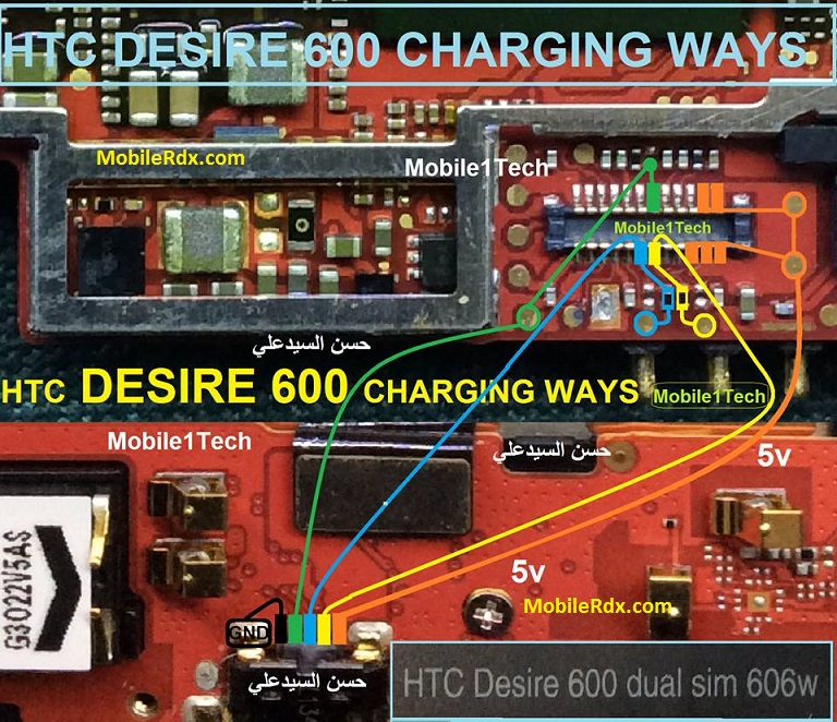HTC Desire 600 Charging Problem Ways Usb Jumper Solution