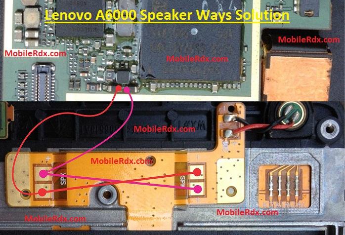 Lenovo A6000 Speaker Ways Ringer Jumper Solution