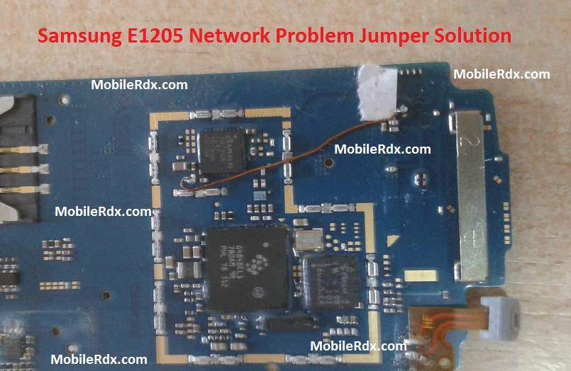Samsung E1205 Network Problem Repair Jumper Solution