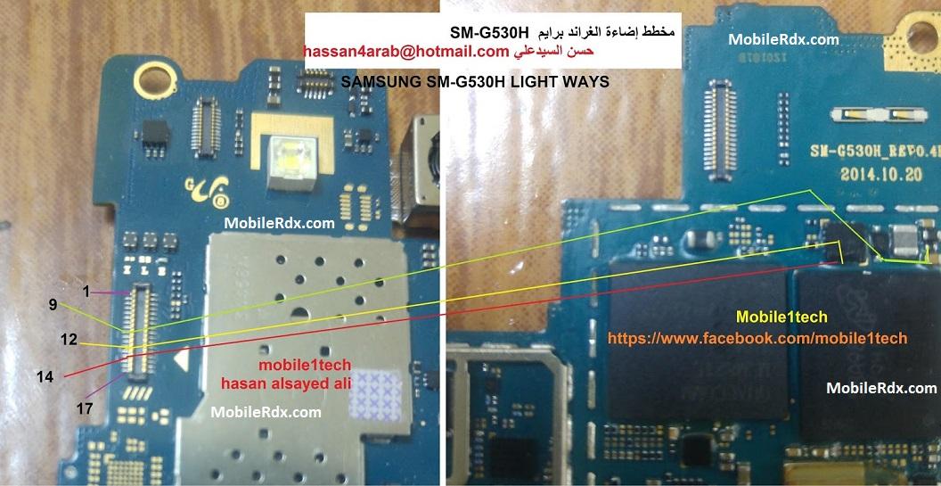 Samsung SM G530H Display Light Solution Backlight Ways