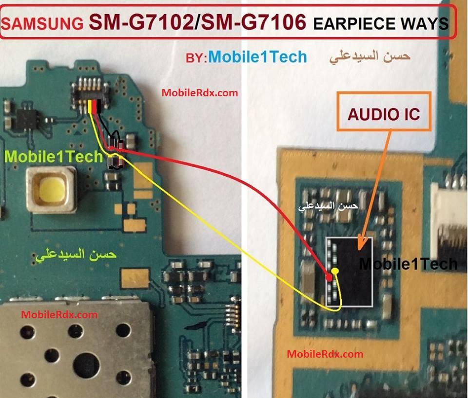 Samsung SM G7102 Ear Speaker Ways Earpiece Jumper Solution - Samsung SM-G7102 Ear Speaker Ways Earpiece Jumper Solution