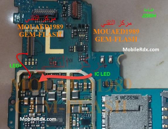 Samsung SM J200H Backlight Jumper Display Problem Jumper - Samsung SM-J200H Backlight Jumper Display Problem Jumper