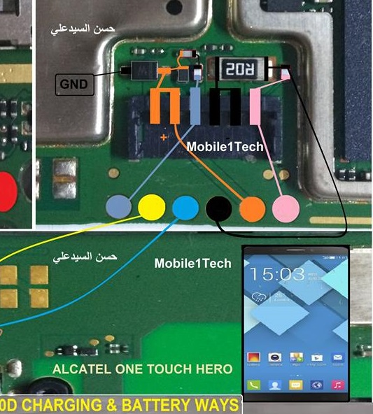 Alcatel OneTouch Hero 8020D Battery Connector Problem Ways Jumper - Alcatel OneTouch Hero 8020D Battery Connector Problem Ways Jumper