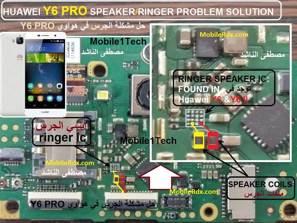 Huawei Y6 Pro Speaker Ways Ringer Ic Problem Jumper