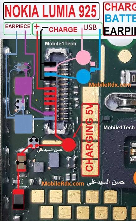 Nokia Lumia 925 Earpiece Not Working Problem Jumper Solution - Nokia Lumia 925 Earpiece Not Working Problem Jumper Solution