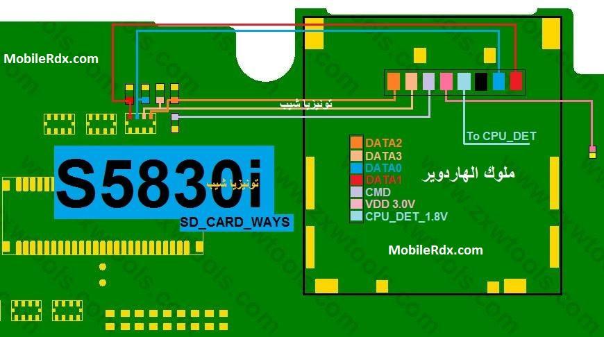 Samsung Galaxy Ace S5830I MMC Not Working Problem Jumper Solution
