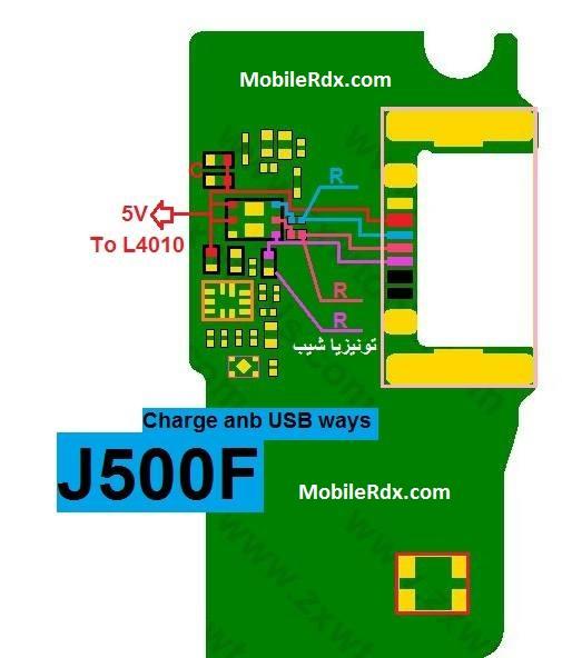 Samsung Galaxy J5 SM J500F Charging Solution Usb Jumper Ways