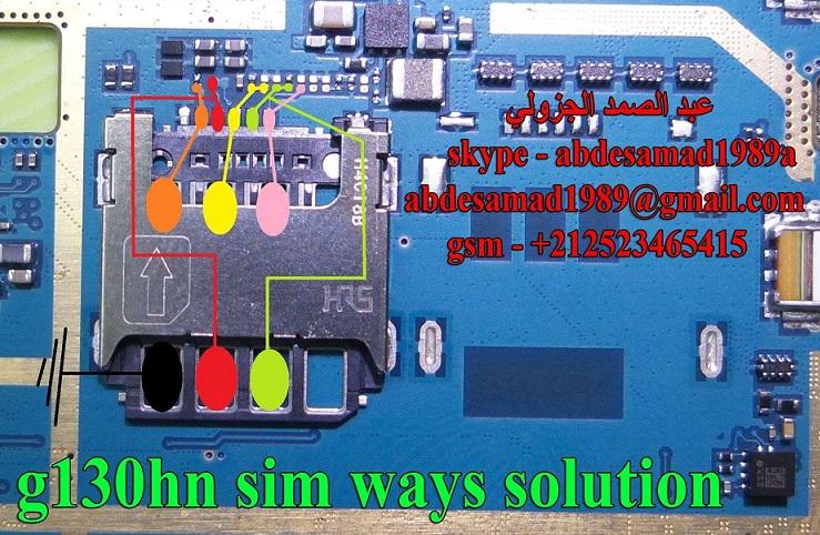 Samsung SM G130HN Sim Card Ways Repair Jumper Solution - Samsung SM-G130HN Sim Card Ways Repair Jumper Solution